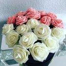 11 Colors 10 Heads 8CM Artificial Rose Flowers  Wedding Bride Bouquet PE Foam  D
