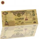 WR the United Arab Emirates Colored Five Hundred Gold Plated Banknote UAE 100 Di