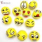 TOFOCO Squeeze toy Facial Expression PU Bouncy Ball Random Pattern Soft Elastic