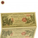 WR 18575 Year 5 Dollar 24k Gold Banknote Home Decorative US World Paper Money Ar