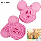 Cartoon DIY Mouse Cake Biscuit Rice Mold Cake Tools Cookies Cutter Christmas Bis