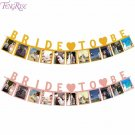FENGRISE Pink Bride To Be Banner Gold Bridal Shower Decor Bride To Be Garland fo