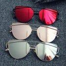 Women Cat eye Optical Glasses Frame 2017 New Brand Design Mirror Rose Gold Clear