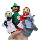 4pcs Figure Puppets Little Red Riding Hood Figure Toys Kids Early Educational To