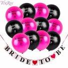 FENGRISE Bride To Be Banner Latex Bachelorette Party Balloons Bachelorette Hen P