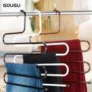 Gougu S Shape Multi-Purpose Hangers Metal Trousers Hanger/Rack Multifunction Pan