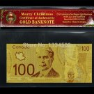 Canada $100 dollar with Frames Gold Foil Banknote For Home Decoration And Collec