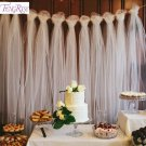 FENGRISE 100 Yards Tulle Wedding Backdrop Wedding Decoration 15cm Tulle Roll Out