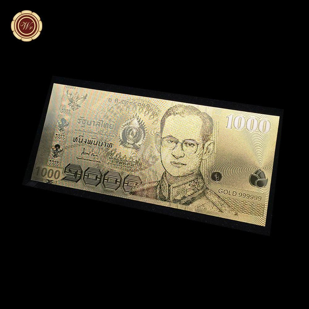 Exquisite Gold Art And Craft ,1000 Baht Thailand Banknotes In Gold 999 for Busin