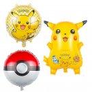 3 pieces pokemon Foil Balloons Inflatable toys Helium Balloons Children classic