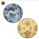 WR Famous Sports Star Commemorative Gold Plated Coin Cristiano Ronaldo Challenge