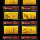 UK English Gold Banknote Set5.10.20. 50 Pound British  Bank Notes Gold w/COA