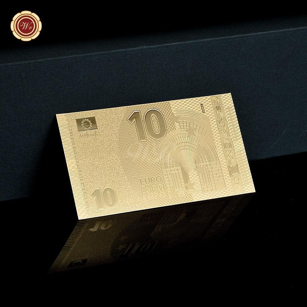 Fake Paper Money NEW Euro 10 Normal Gold Banknotes Exquisite Art&Collectible