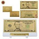 WR Usd 5 24k Gold Banknote Quality 5 Dollar Golden World Paper Money Souvenir Gi
