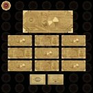 WR Home Accessory Saudi Arabian Fake Money Currency 200 Riyals 24k Gold Foil Ban