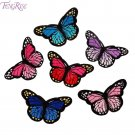 FENGRISE 10 Pieces Butterfly Embroideried Patch For Clothing Iron On Patches App