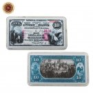 WR 10 Dollar World Paper Money American 1875 Year Colorful Bank Note Silver Bars