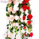 FENGRISE 180CM Silk Rose Flower Flexible Artificial Flower String for Home Weddi