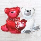 """Wedding decorations balloons New large double bears hug heart """" I love You"""" foil"""