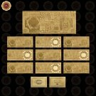 WR Business Souvenir Gifts 24k Gold Banknote Hot Sale Collectible Saudi Arabia 5