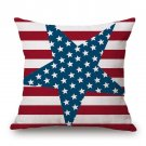 Cushion Cover 45cm*45cm Flag Style Square Pillow Cover For Sofa Car Chairs Waist