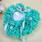 New Jewelry  Pillow Heart Box With Ribbon Pearl For Wedding Engagement And Chris