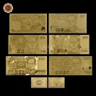Normal gold banknote Rare Thailand Set 10.20.50.100.500.1000 Paper Money Plated