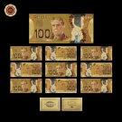WR Canada 100 Dollars 24kt Gold Foil Banknote Metal Craft Gold Banknote Gold Fak