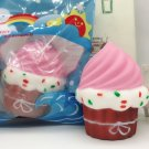 Kawaii Cute 10 CM Ice Cream Puff Belt Cake Slow Rising Squishy Scented Milk Brea