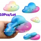 10Pcs/Lot 16CM Jumbo Kawaii Squishy Slow Rising Colorful Cloud Candy Cute Cartoo