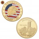 WR US Gold Commemorative Coin Remember September 11th Gold Plated Coin Metal Art