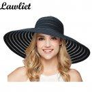 New Fashion Women Sun Hat Polyester Large Wide Brim Ventilation Summer Casual Fa