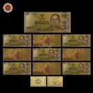 WR Promotional Gift Thailand Colorful Gold Banknote Ideas Gifts 1000 Baht Note C