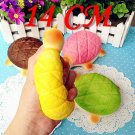 14CM Cute Kawaii Jumbo Squishy Tortoise Phone Straps Charms Bread Scented  Slow