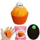 Funny Luminous Skull Pumpkin Puff Cake Anti-Stressr Squeezen Toy New Glow Dark S