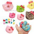10Pcs/Lot Cute Original Kitty Donut Squishy Slow Rising Jumbo Sprinkles Bowknot