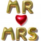 40 inches letter balloons MR MRS foil balloons Wedding decoration anniversary re