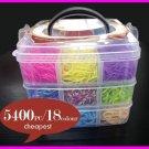 Let's Make 5400pcs High Quality Rubber Loom Band Kit Kids DIY Bracelet Silicone