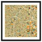 Los Angeles Map Framed Artwork