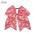 Big Pink Breast Cancer Awareness Cheer Bows Cheerleading Bow For Women Handmade