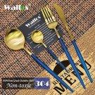 Hot Sale 4 Pcs/Set Rose Gold Dinnerware Set 304 Stainless Steel Western Cutlery