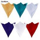 OurWarm 100pcs Satin Napkins Polyester Wedding Decoration Napkins Six Colors Sat