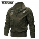 TACVASEN Military Jacket Men Winter Cotton Jacket Coat Army Pilot Jackets Air Fo