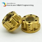 2 pcs Ti Axle Nut M16 and M18 Pitch 1.5mm Titanium Flange Nut Motorcycle Rear Ax