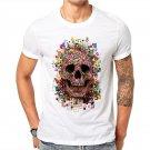 100% Cotton Men T Shirts Harajuku Fashion Digital Colorful Skull Design Short Sl