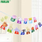 FANLUS Peppa Pig Theme Party Decorative Birthday Party Supplies Decoration Banne