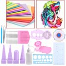 11 In 1 Handmake Paper Template DIY Paper Quilling Tools Set Template Mould Boar