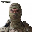 TACVASEN Tactical Quick Dry Hood  Mask Hunt Full Face Mask Paintball War Game He