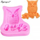 Byjunyeor M188 Owl Shape Silicone Mold - 3D Animal Mold Cupcake Topper Resin Jew