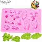 Byjunyeor M235 leaf Silicone Mold Cake Decoration Leaf Press Mold Shaped Fondant
